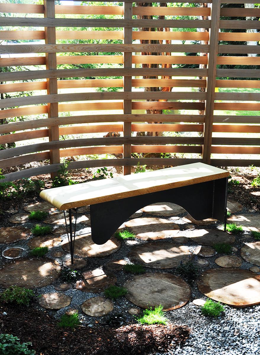 a bench for contemplatives