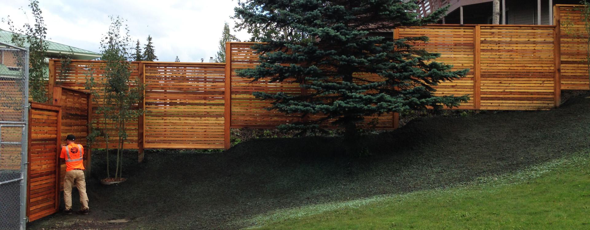 fence finishing touches