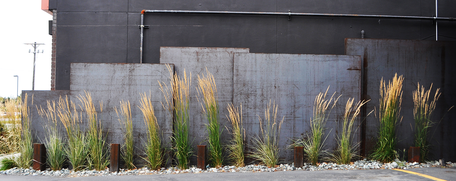 Cor-Ten Steel Wall