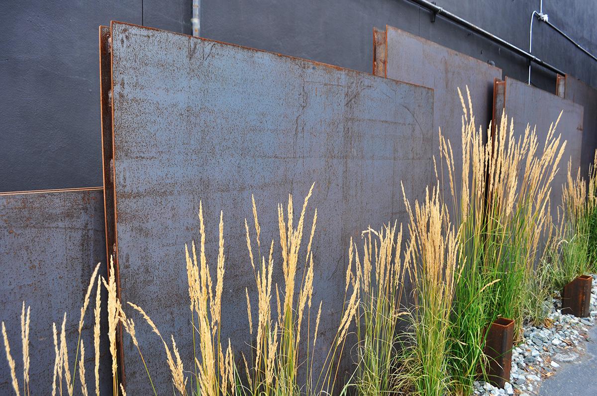 steel wall grass small